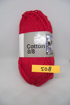 Cotton 8-8 col.508 rood