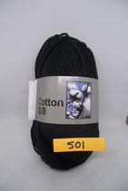 Cotton 8-8 col.501 zwart