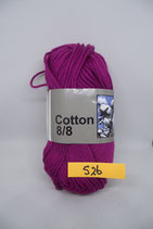 Cotton 8-8 col.526 donker paars