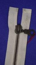 Huismerk rits 85 cm off white metaal deelbaar