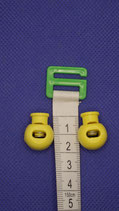 Koord     stopper geel ( 2 stuks)