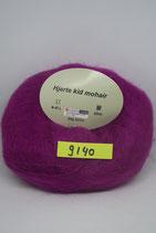 Hjerte Kid Mohair col.9140 fuchia
