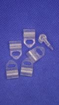 Varioclips voor vouwgordijn transparant