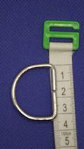 D-Ring   zilver  3 cm