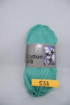 Cotton 8-8 col.532 groen