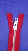 YKK Rits 35 cm metaal rood deelbaar
