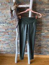 Legging in Lederoptik Farbe Khaki