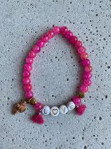 Perlenarmband Pink-Rosé