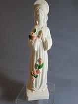 イタリア マーブルベース 薔薇の聖母立像 22センチ