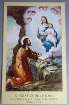 聖人ご絵 聖イグナチウスデロヲラ  聖母子 ジェズ教会ご絵