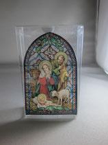 イタリア製ステンドグラス 御降誕 聖母子とひつじ ST20イ