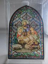 イタリア製ステンドグラス 御降誕 聖家族とひつじ飼い ST20ハ