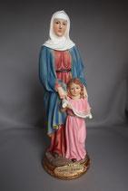 ご像 樹脂 聖アンとマリア 30センチ Saint Ann&Maria Statue, 30 cm in resin