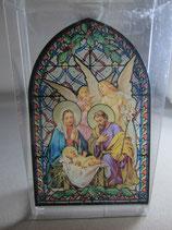 イタリア製ステンドグラス 御降誕 天使と聖母子ST20ロ