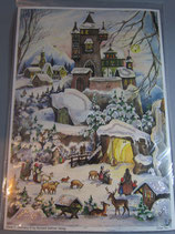 アドベントカレンダー雪の城(タテ)XRS077