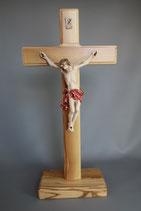 イタリア 卓上十字架 LALCL198-C 白木レッド 31×17.5センチ