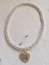 Armband Sterlingsilber 3mm mit Herz