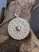 Wunderschönes Amulett mit echter Süsswasseerperle 3,3cm