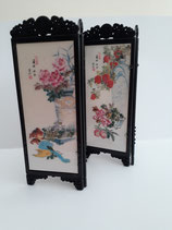Oriental 4-Panel Reversible Room Divider Screen