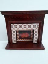 Mahogany Victorian Fireplace