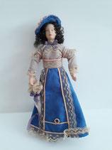 Del Prado Vintage Victorian/Edwardian Tall Elegant Lady in Blue