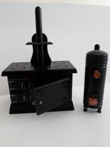 Black Wooden Agar Cooker & Wash Barrel