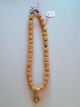 Halskette mit Lavasteine Gelb mit Schutzengel