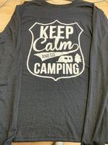 Longsleeve keep calm and go camping