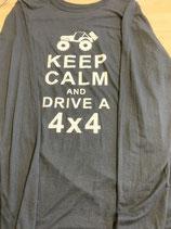longsleeve keep calm and drive 4x4