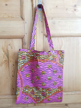 Tote-bag Wax ocre/rose