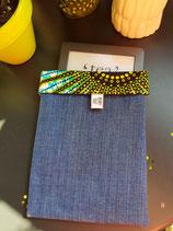 Housse pour liseuse jean/Wax soleil