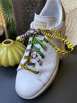 Lacets Wax grande feuilles jaune/vert/rose pâle