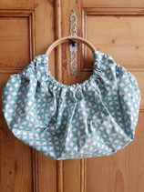 Sac boule Camelot turquoise/moutarde