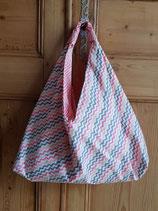 Sac origami Camelot multicolore/corail
