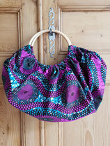 Sac boule Wax violet/turquoise