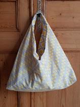 Sac origami Camelot jaune/gris