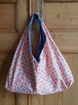 Sac origami Camelot corail/marine