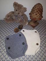 Culotton cache couche tricoté