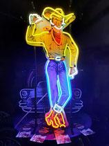 Las Vegas Cowboy Neon Werbung Nevada Vic Neonreklame Lichtzeichen