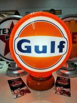 "Gulf-Globe (Plastik Rand Orange) ""must have"" Lampe Original Gulf Ton umlackiert"