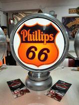 Phillips 66 Aluminium-Globe/Lampe sehr hochwertig Lampe aus Metall US-Deko