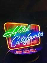 Hotel California US-Neon Deko Werbung Sacramento Amerika Leuchtreklame