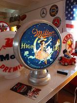 Miller Alu-Globe/Lampe hochwertig aus Metall Amerika Bier Reklame Werbung