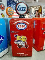 Esso Retro Kühlschrank Bosch KDL Tankstelle-Design Tanksäule Halle Deko