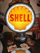 Shell Aluminium-Globe/Lampe aus Metall Amerika US Deko Tankstelle Tanksäule
