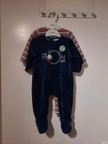 Noukie's - Pack DUO de pyjamas (ligné rouge et bleu VELOURS)