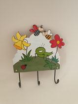 Haken Blumenwiese mit Marienkäfer mit drei Aufhängern