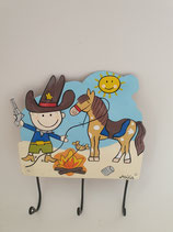 Haken Cowboy mit drei Aufhängern