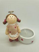 Engel klein rosa Sterntaler mit Teelicht
