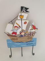 Haken Piratenschiff Pirat of love mit drei Aufhängern